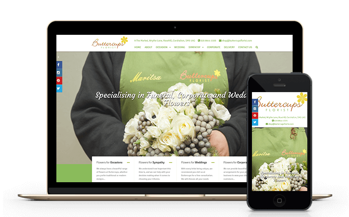 florist web design services including mobile friendly content managed solutions