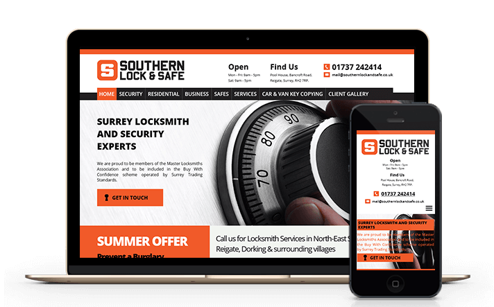 we have experience working with locksmiths delivering modern mobile friendly websites