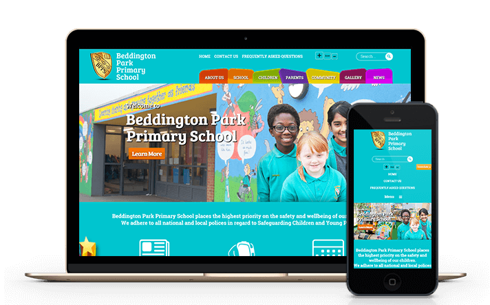 we have provided mobile friendly content managed website solutions for primary schools and other education sectors