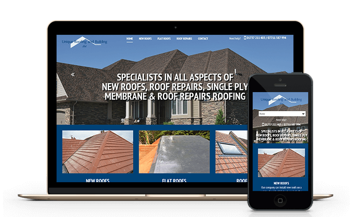 we provide web design services for roofing companies and contractors around Surrey