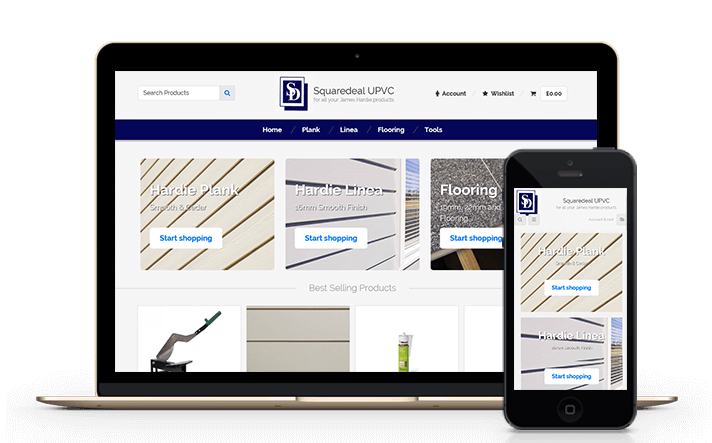 we have helped many local businesses by delivering e-commerce solutions and shops for the building trade