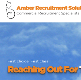 an example of a mobile friendly website for the recruitment sector