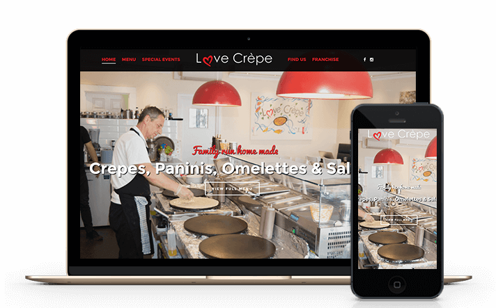 Love Crepe is a Surrey-based creperie restaurant that contacted us to create a fully comprehensive content managed website and photography services