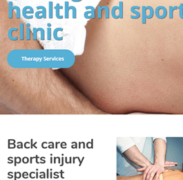sports massage and therapy
